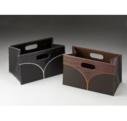 Corrugated Collapsible Container w/Faux Alligator Finish