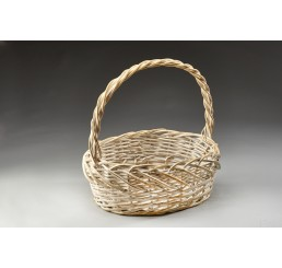 White w/Gold Willow Basket