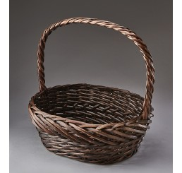 Double Weave Oval Willow Basket
