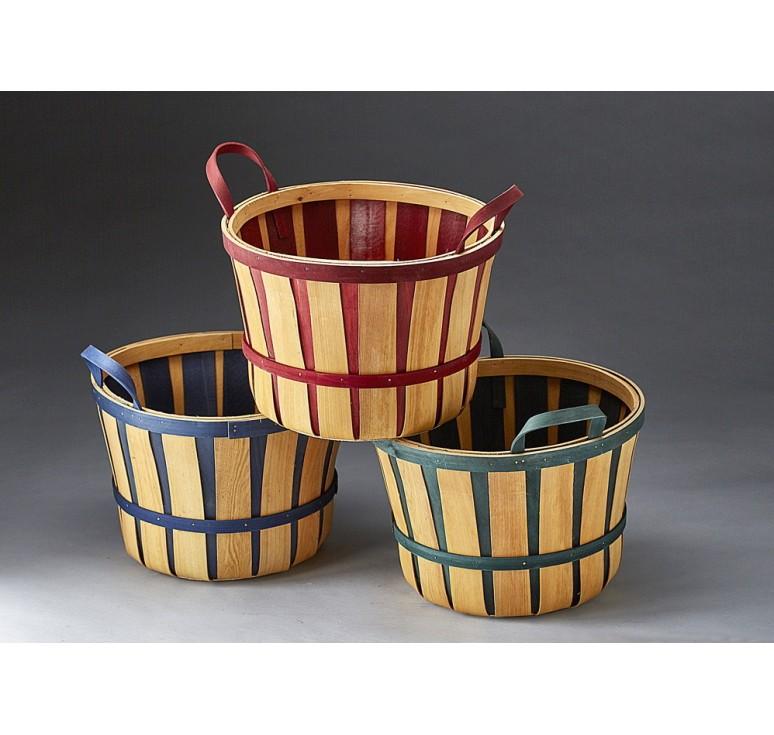 3 Assorted Woodchip Bushel Basket