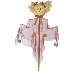 5' Scarecrow on Bamboo Pole **Very Limited Qty.