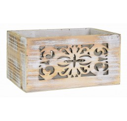 White Wash Rectangular Wooden Container