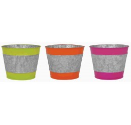 Galvanized Metal Pot Cover - 3 Assorted