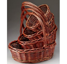 Set/4 Oval Willow Baskets