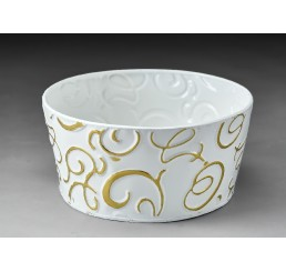 White & Gold Metal Container