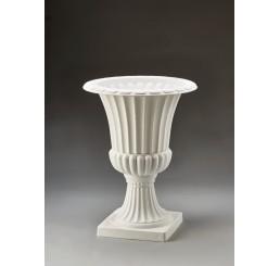 White Plastic Urn