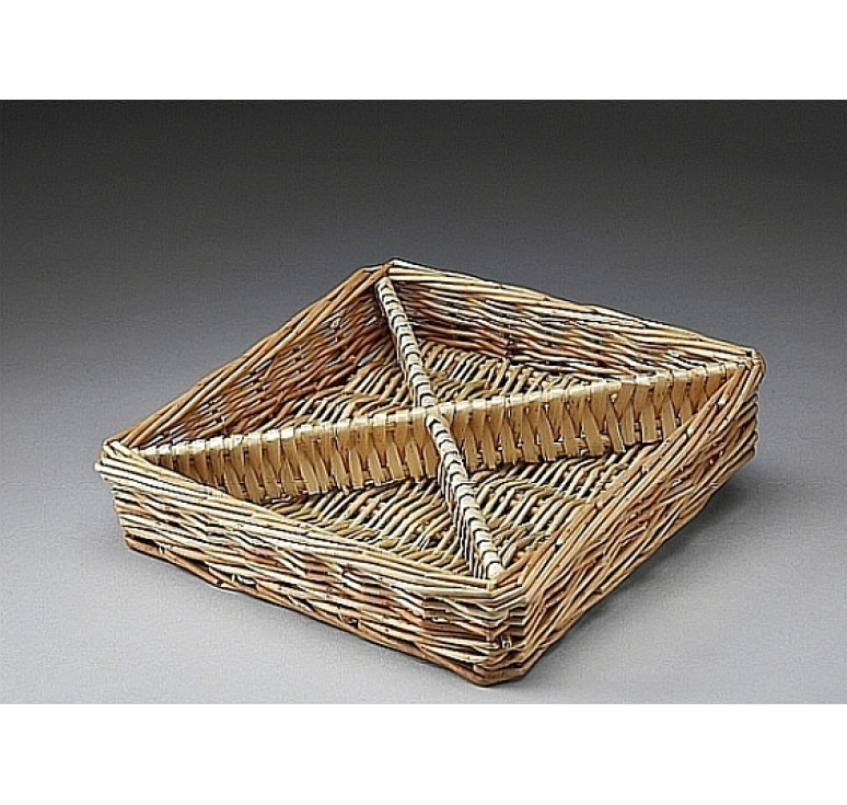 Square Willow Divided Tray
