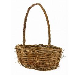 """Round Twiggy Vine Basket - 10.75"""""""