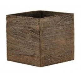 """Brown Stain Wooden 7"""" Cube"""