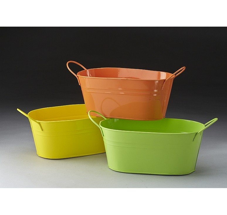 Oval Metal Pail - Spring Assortment