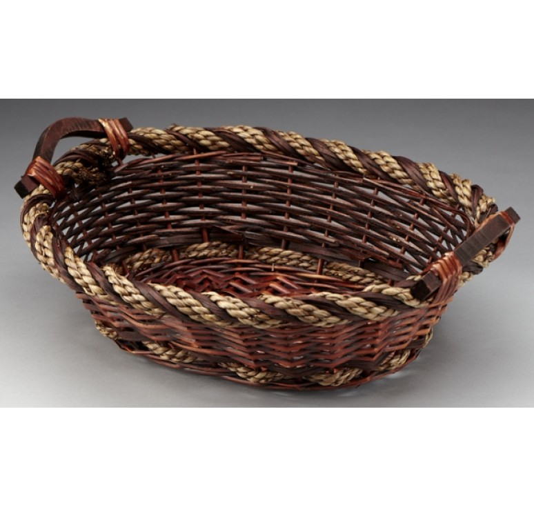 Oval Willow/Rope Tray