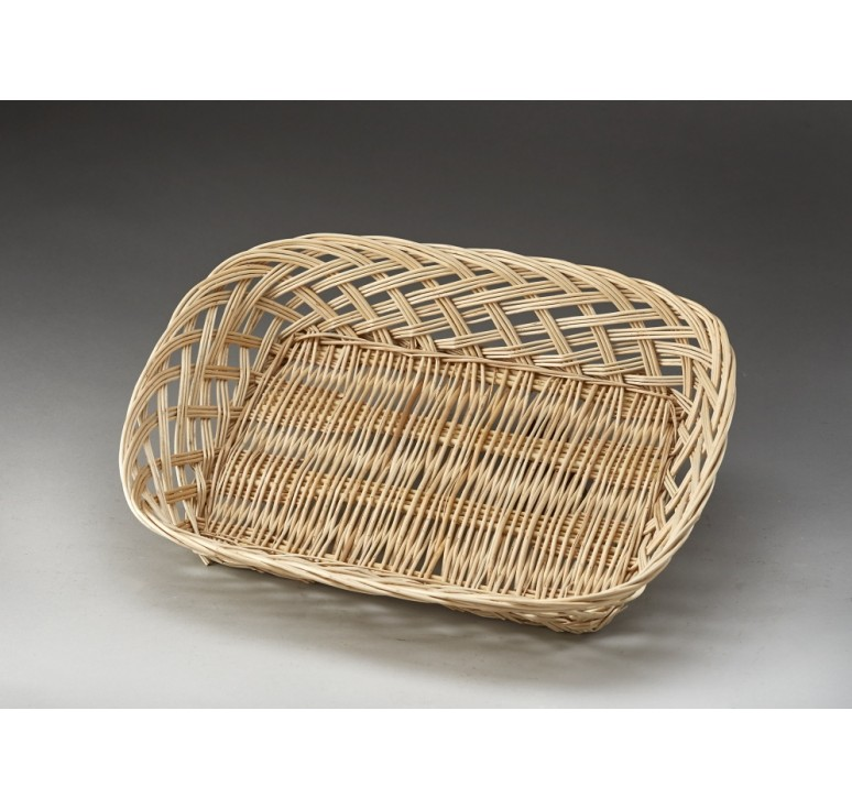 Rectangular Open Weave Willow Tray -Small