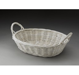Willow Tray Painted White