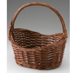 Oval Willow Basket Avail Natural or Painted  *Low Inventory