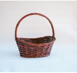 Brown Stain Willow Single Basket