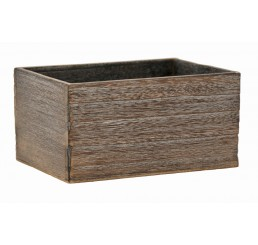 Rectangular Brown Stain Wooden Container   *Avail Approx 3/9