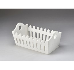 Rectangular Wooden Picket Fence