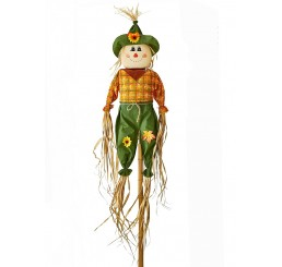 5' Scarecrow on Two-Piece Bamboo Pole