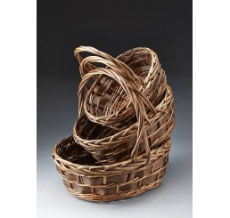 Oval Willow & Woodchip Set/3