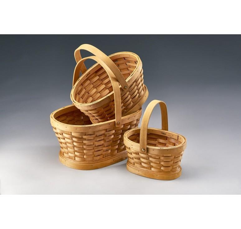 Oval Woodchip Set/3