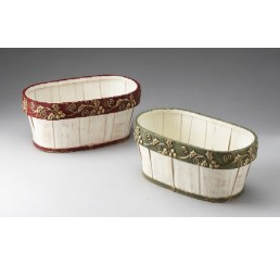 Oval Woodchip Container