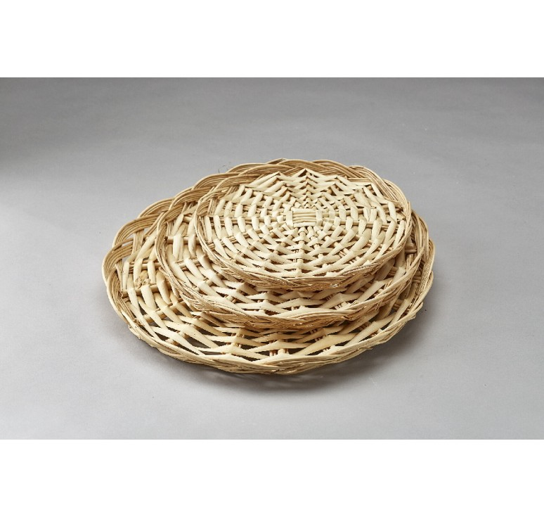 "8"" Round Split Willow Packing Tray"