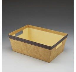 Tan Faux Suede Corrugated Container
