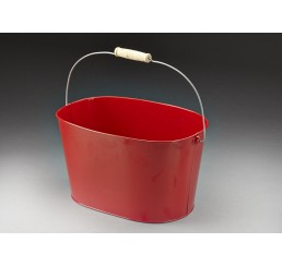 Red Metal Pail With Drop Handle