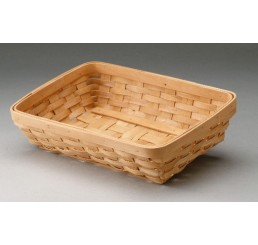 Woodchip Rectangular Tray