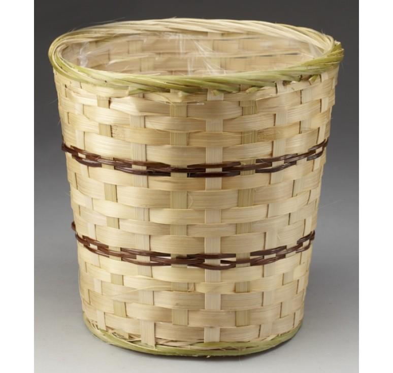 """10"""" Bamboo Planter Basket / Pot Cover"""