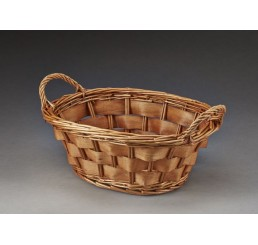 Oval Woodchip Tray Brown Stain