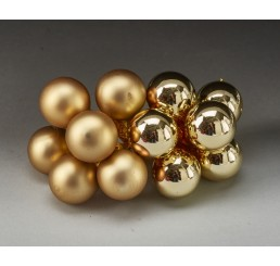 25mm Glass Ball Pick - Gold