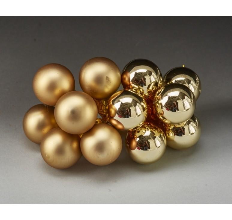 25mm Glass Ball Pick - Gold