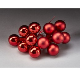 25mm Glass Ball Pick - Red