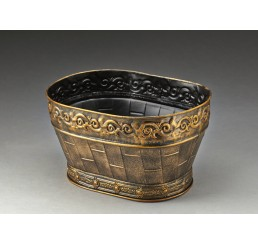 Embossed Gold Metal Container