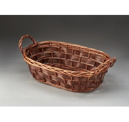 Willow and Woodchip Oblong Tray with Ear Handles