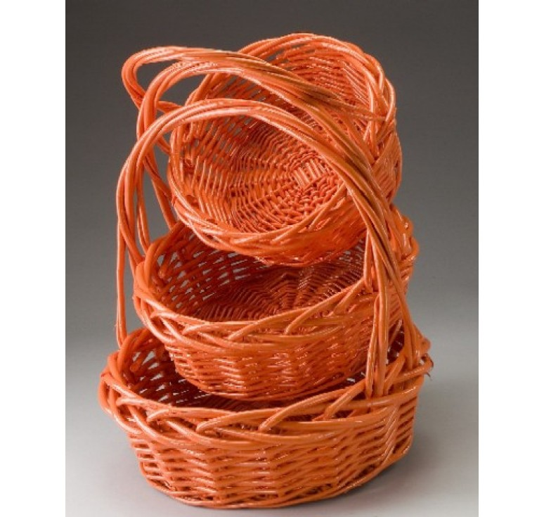 Set/3 Round Willow Baskets