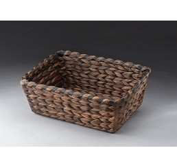 Brown Stain Seagrass Tray with Metal Frame