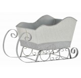 Silver Metal Sleigh with Metal Runners