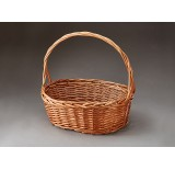 Oval Willow Single Basket - Buff Color
