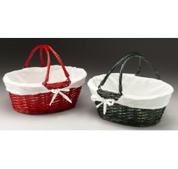 Split Willow Basket w/Fabric Lining