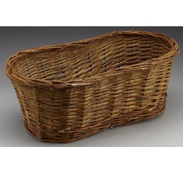 Peanut-Shaped Unpeeled Willow Basket