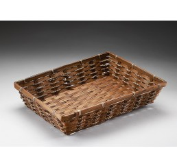 Brown Stain Rectangular Bamboo Tray