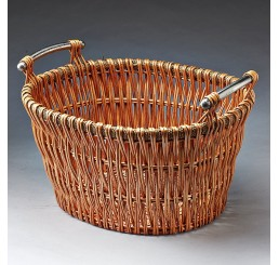 Oval Willow with Aluminum Handles