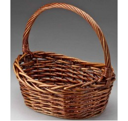 Oval Willow Single Brown Stain