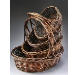 Brown Stain Oval Willow Set/4