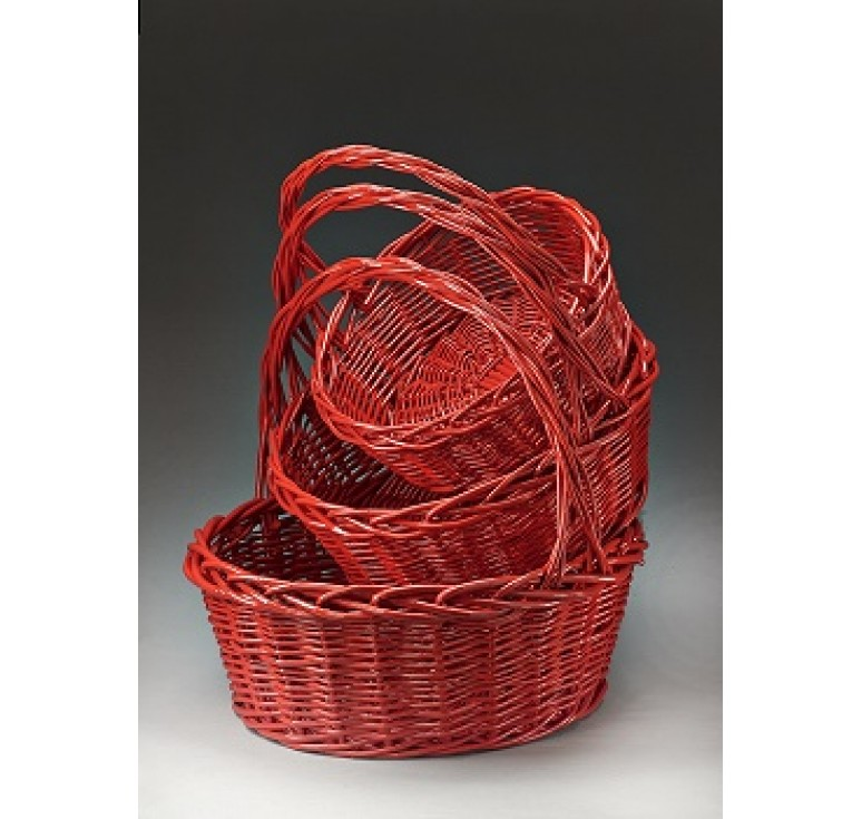 Giant Round Willow Baskets Set/3