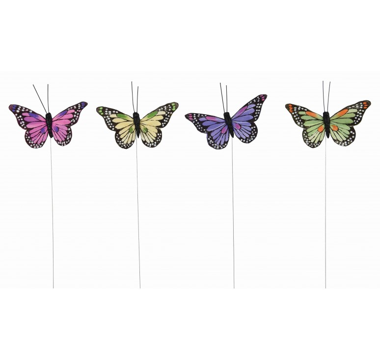 "3"" Assorted Color Butterfly Pick"