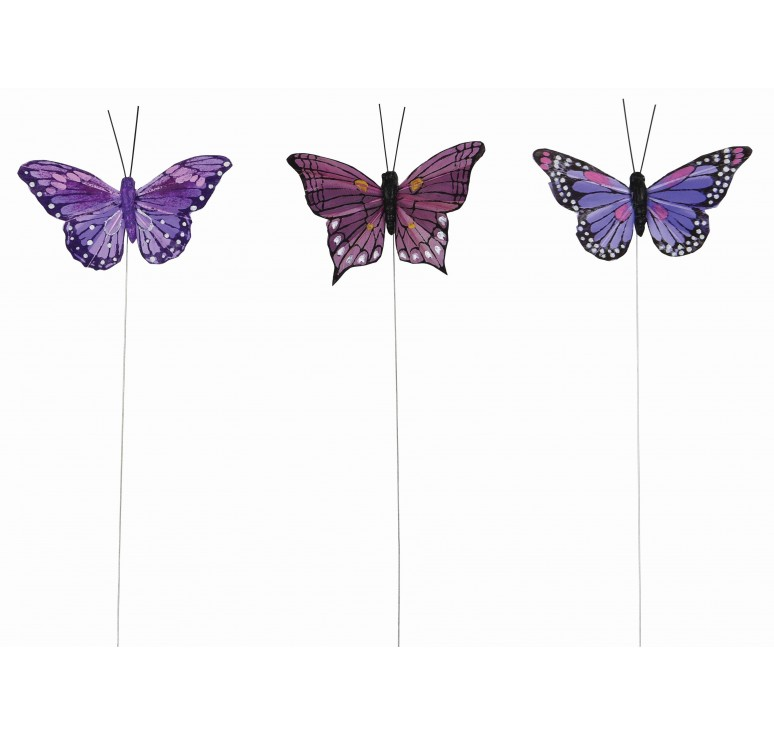 "3"" Purple Butterfly Pick"