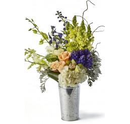 Galvanized Metal Flower Bucket